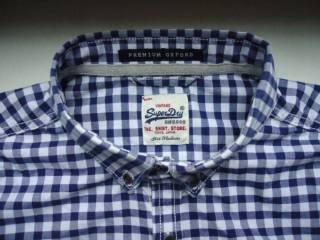рубашка  Superdry Vintage Oxford Japan (M) 4