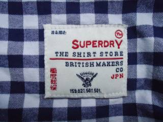 рубашка  Superdry Vintage Oxford Japan (M) 8