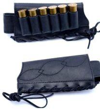 Патронташ на приклад ,кожаный на 6 патронов 12/16 калибра, на шнурке 5