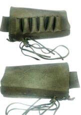 Патронташ на приклад ,кожаный на 6 патронов 12/16 калибра, на шнурке 4