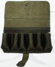 Патронташ подсумок кожаный, подарочный на 6 патронов 12/16 калибр 4