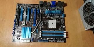 Материнская плата Asus F1A75-V Evo (sFM1, AMD A75)(под ремонт)