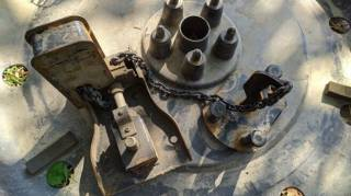 Механизм подъема запасного колеса Mitsubishi 4260a016 + защита запаски 2