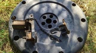 Механизм подъема запасного колеса Mitsubishi 4260a016 + защита запаски 3