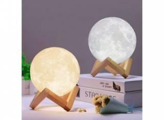 Настольный светильник 3D MOON LAMP Месяц 15 см 2