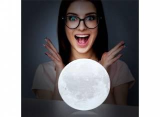 Настольный светильник 3D MOON LAMP Месяц 15 см 3
