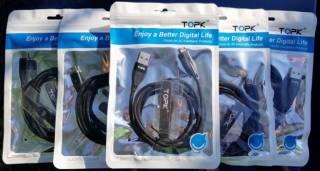 TOPK Магнитный кабель шнур зарядка+синхронизация данных AM61 (плоский) 9