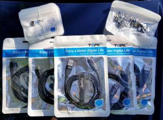 TOPK Магнитный кабель шнур зарядка+синхронизация данных AM61 (плоский) 8