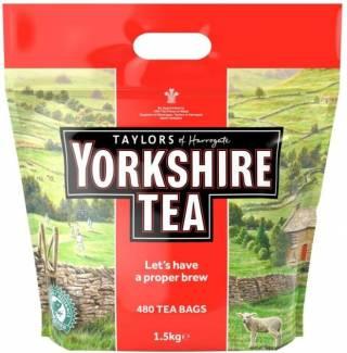 Чай - YORKSHIRE TEA - 480 пак. 1,5 кг. термін до 31.12. 2021 р.