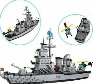 Конструктор Brick 112 Военный Корабль Ракетный Крейсер 2