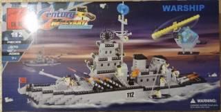 Конструктор Brick 112 Военный Корабль Ракетный Крейсер