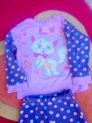 Пижама для девочки 1,5- 2,5годика