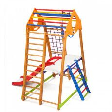 Детский спортивно-игровой комплекс для дома «BambinoWood Plus 2» 4