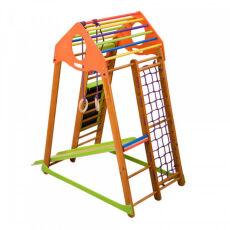 Детский спортивный деревянный комплекс для дома «BambinoWood Plus» 4