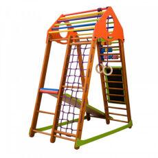 Детский спортивный деревянный комплекс для дома «BambinoWood Plus» 7