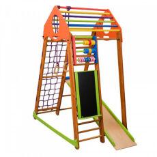 Детский спортивный деревянный комплекс для дома «BambinoWood Plus» 2