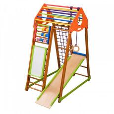 Детский спортивный деревянный комплекс для дома «BambinoWood Plus» 3