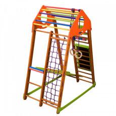 Детский спортивный деревянный комплекс для дома «BambinoWood Plus» 8