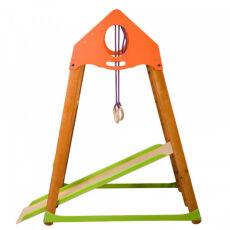 Детский спортивный деревянный комплекс для дома «BambinoWood Plus» 10