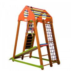 Детский спортивный деревянный комплекс для дома «BambinoWood Plus» 9