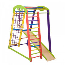 Деревянный спортивный комплекс «Кроха 1 мини» для детей от 3-х лет 3