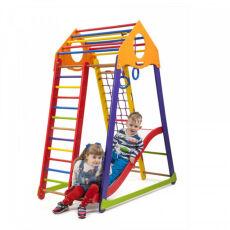 Детский деревянный спортивный комплекс «BambinoWoodColor Plus 1» 2