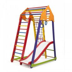 Детский деревянный спортивный комплекс «BambinoWoodColor Plus 1» 6