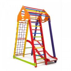 Детский деревянный спортивный комплекс «BambinoWoodColor Plus 1» 3