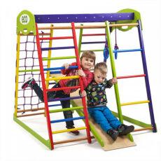 Деревянный спортивный детский комплекс для дома «Юнга мини»