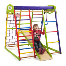 Деревянный спортивный детский комплекс для дома «Юнга мини» 2