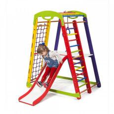 Деревянный спорткомплекс детский для дома «Кроха - 1 Plus 2» 6