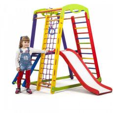 Деревянный спорткомплекс детский для дома «Кроха - 1 Plus 2»