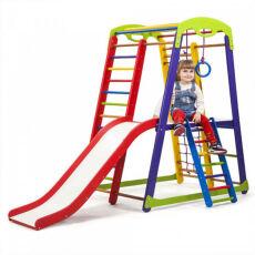 Деревянный спорткомплекс детский для дома «Кроха - 1 Plus 2» 2
