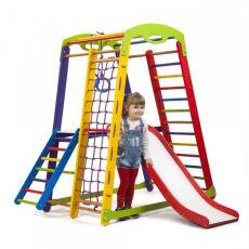 Деревянный спорткомплекс детский для дома «Кроха - 1 Plus 2» 4