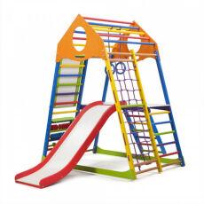 Детский деревянный спорткомплекс для квартиры «KindWood Color Plus 3» 4