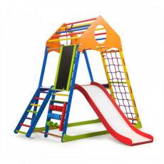 Детский деревянный спорткомплекс для квартиры «KindWood Color Plus 3» 3