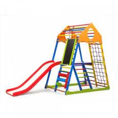 Детский деревянный спорткомплекс для квартиры «KindWood Color Plus 3» 5