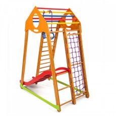 Детский деревянный спорткомплекс для дома «BambinoWood Plus 1» 2