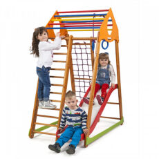 Детский деревянный спорткомплекс для дома «BambinoWood Plus 1»