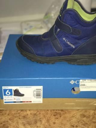 Продам ботинки для мальчика Columbia, 37,5 размер 5