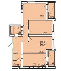 3-к квартира в новострое ЖК Радужный-1, дом заселен в 2018 2