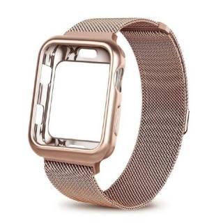 Ремешок Миланская петля +чехол для Apple Watch 1,2,3,4,5,6/38,40,42,44