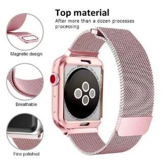Ремешок Миланская петля +чехол для Apple Watch 1,2,3,4,5,6/38,40,42,44 9