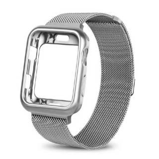 Ремешок Миланская петля +чехол для Apple Watch 1,2,3,4,5,6/38,40,42,44 4