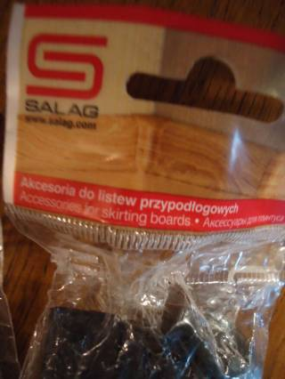 Плинтус Salag NG80 E0 чёрный+фурнитура Польша 8