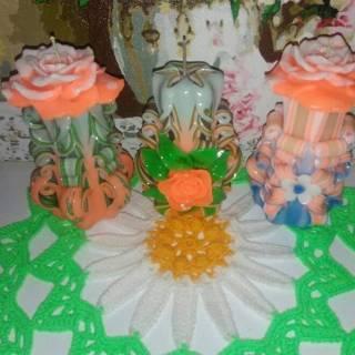 Сувенирные резные свечи 5
