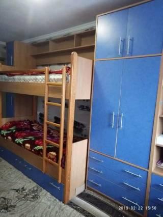 Продам стінку в дитячу кімнату (двоповерхове ліжко з ортопеличними мат