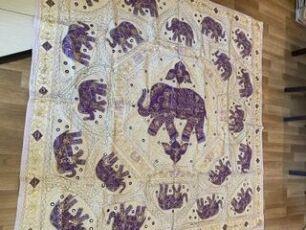 Индийская покрывало ручной работы