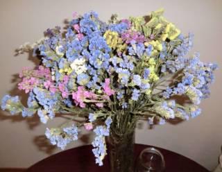 Сухоцветы букеты из сухоцветов икебана флористика декор 7