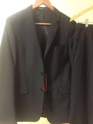 Мужской классический черный костюм 5